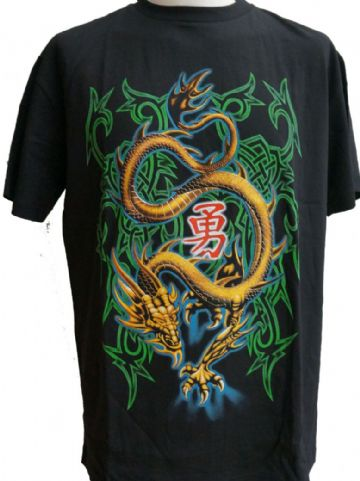 The Golden Dragon T Shirt With Large Back Print